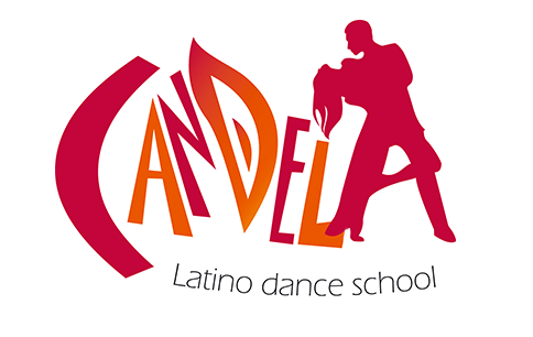 Candela logo with two versions. Left one is for more lighthearted dance lessons and the one on the right is for night parties.